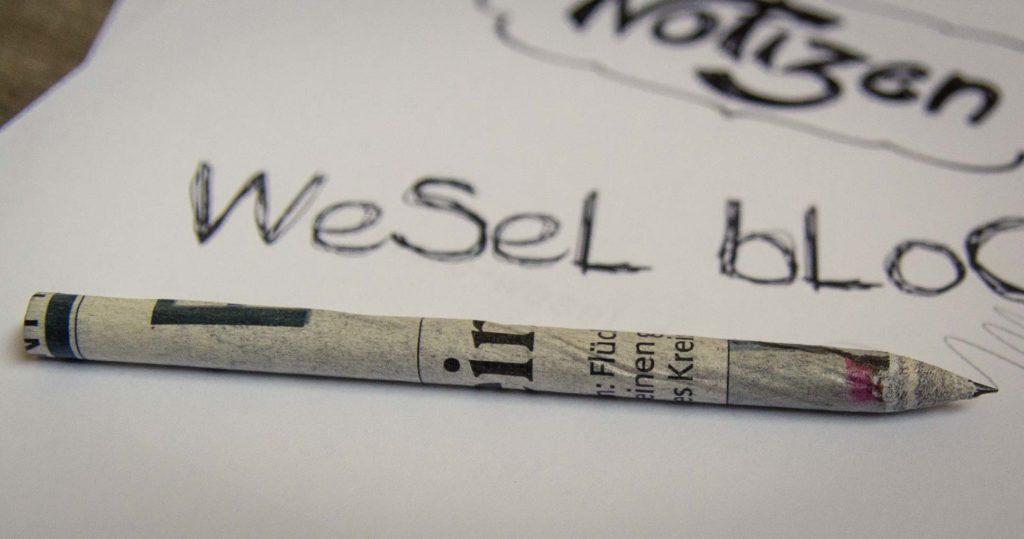 Bleistift aus Papier
