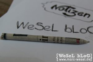 Papier-Bleistift WeSeL bLoG