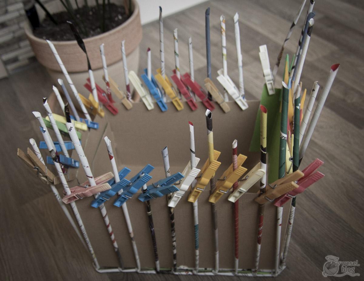 Zeitungsständer Holz Selber Machen ~ Zeitungsständer  Korb aus Papier  Upcycling  WeSeL bLoG  DIY