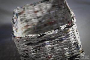 Basteln, DIY, Flechtkorb aus Papier, Papier