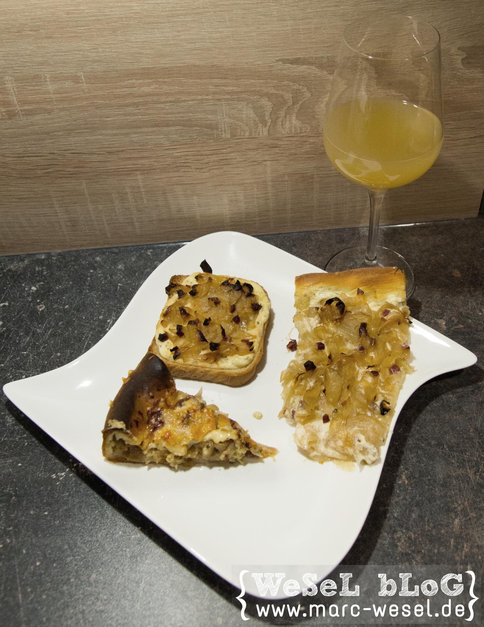 Flammkuchen, Zwiebelkuchen & Federweißer