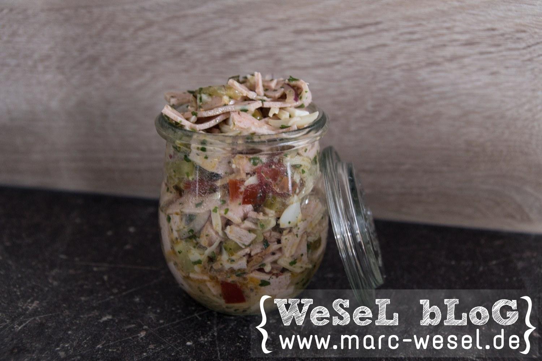 Wurstsalat im Glas / Wurstsalat in a jar
