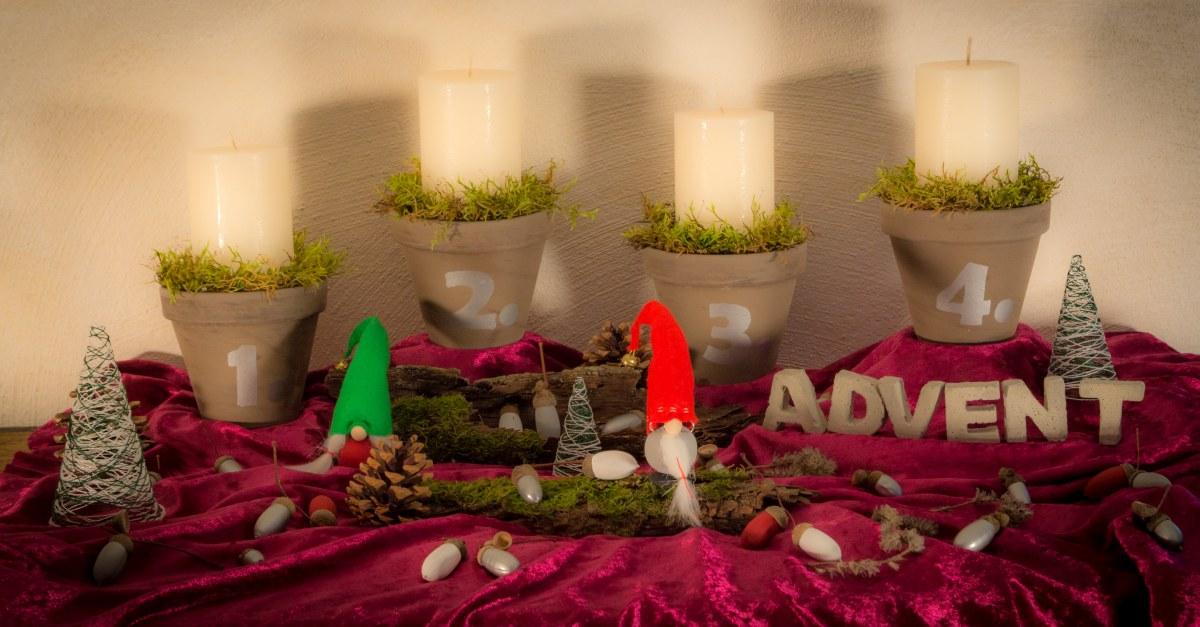 DIY Adventskranz – der etwas anderen Art