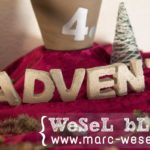 DIY Adventskranz - Betonbuchstaben Advent