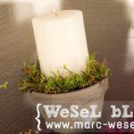 DIY Adventskranz - Kerzenhalter