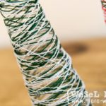 DIY_Textiltannenbäume / Garn Weihnachtsbäume