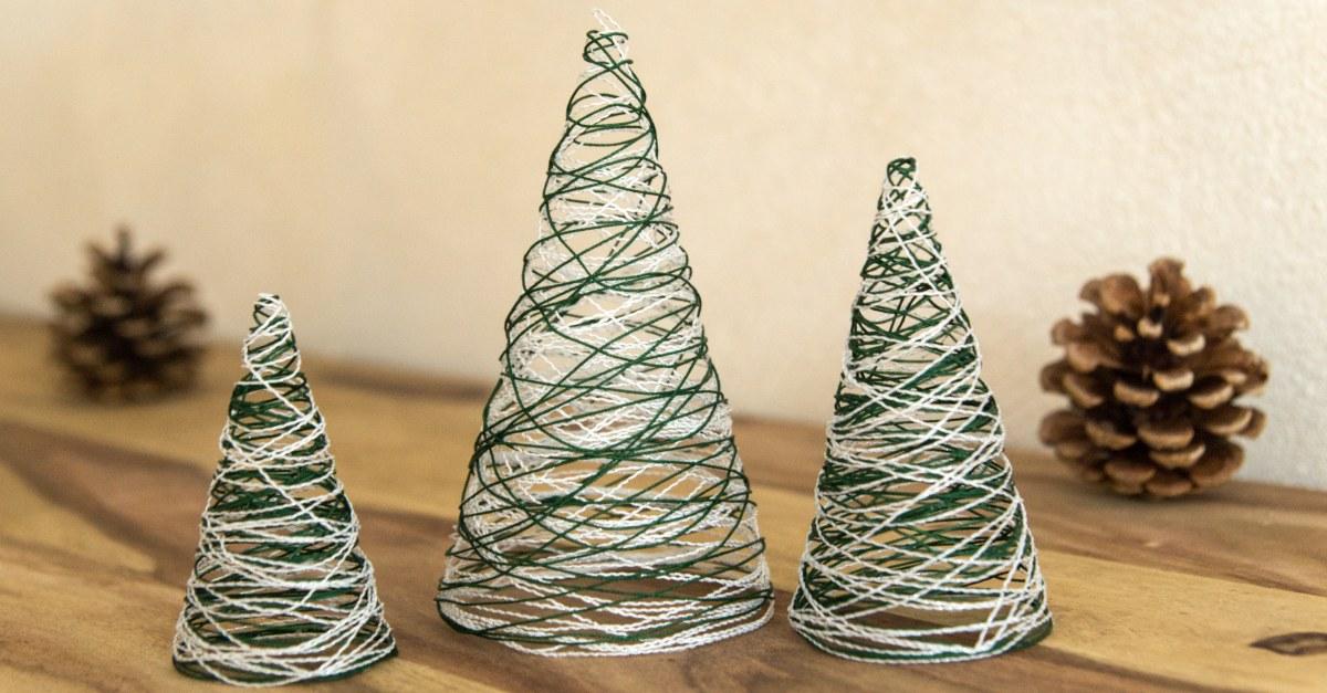 Diy Weihnachtsdeko.Garn Weihnachtsbäume Diy Weihnachtsdeko Wesel Blog Diy