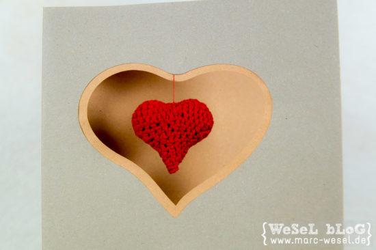 DIY - Karte zum Valentinstag