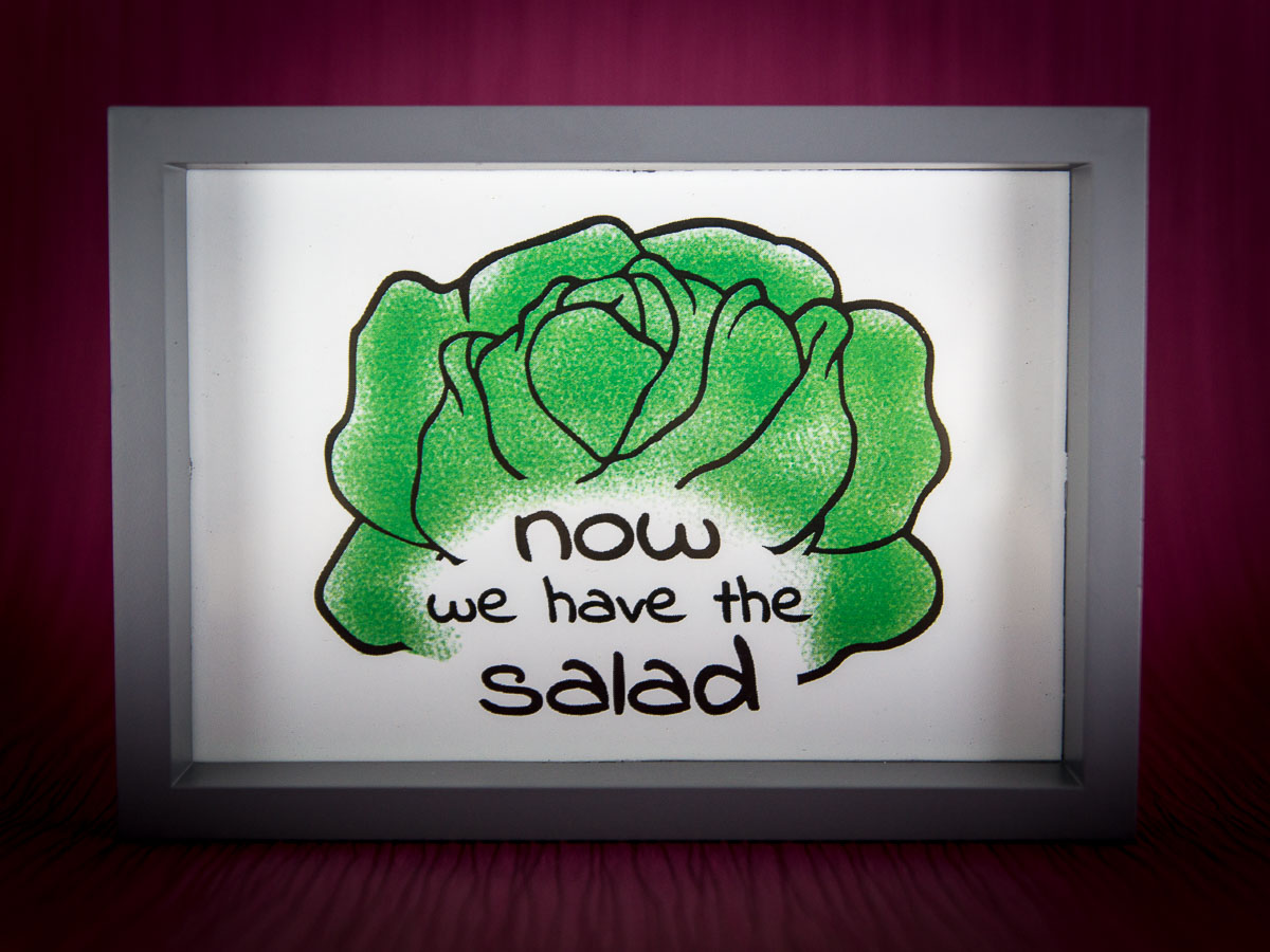Now we have the salad – Free printable