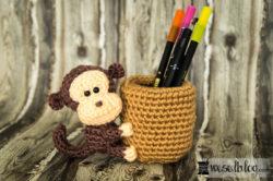 Haekeln-Stifthalter-Affe