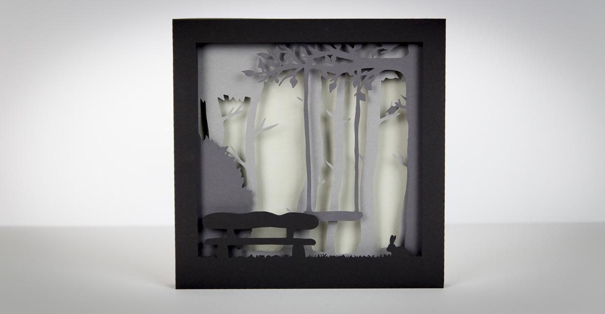 3D Bild aus Papier basteln freebie