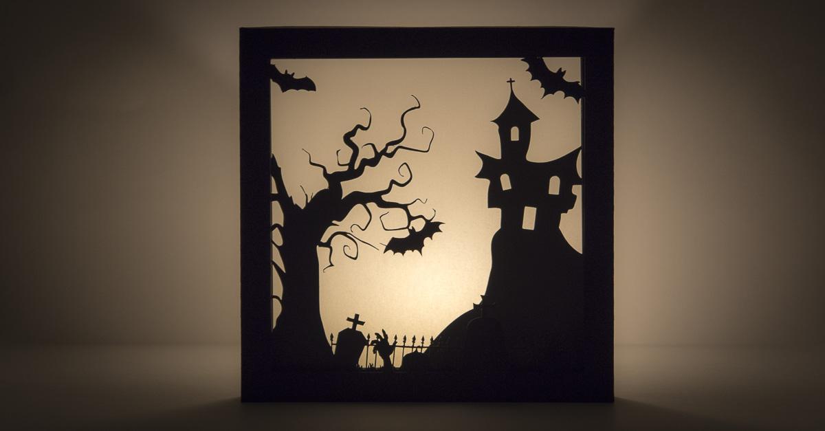 Schocktober-3D-Halloween-Papierbild