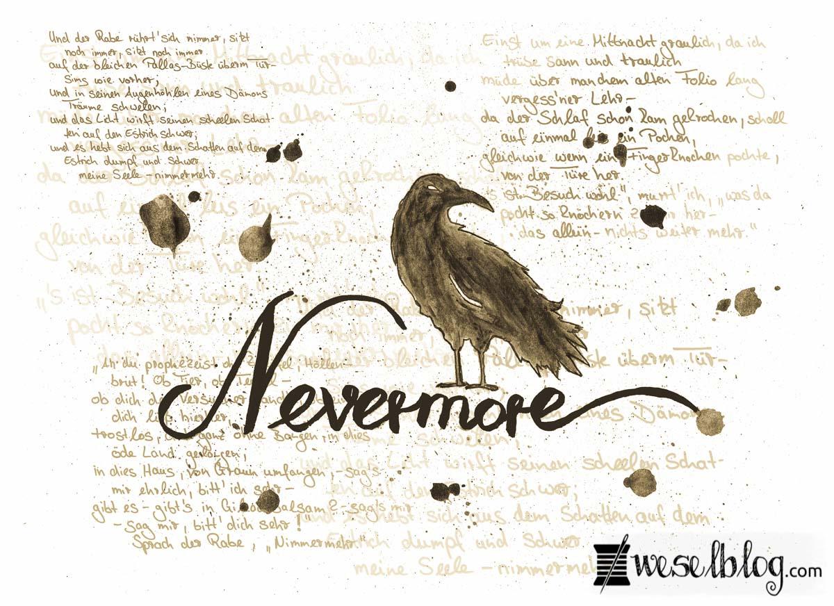 Nevermore - Der Rabe *Free-Printable* - wesel.blog   DIY