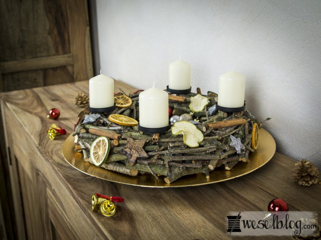 diy adventskranz aus holz wesel blog diy kreativ blog. Black Bedroom Furniture Sets. Home Design Ideas