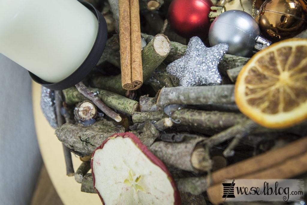 DIY Adventskranz Holz