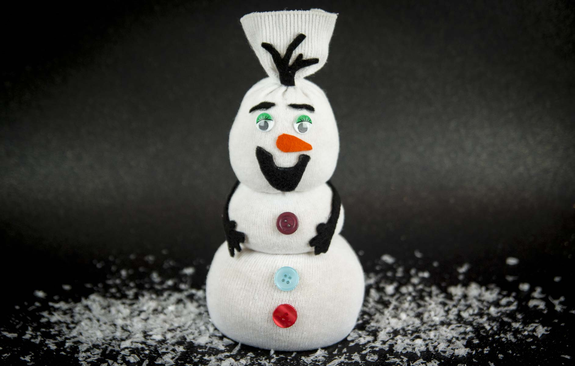 Socken-Upcycling Schneemann Mr. Frosty