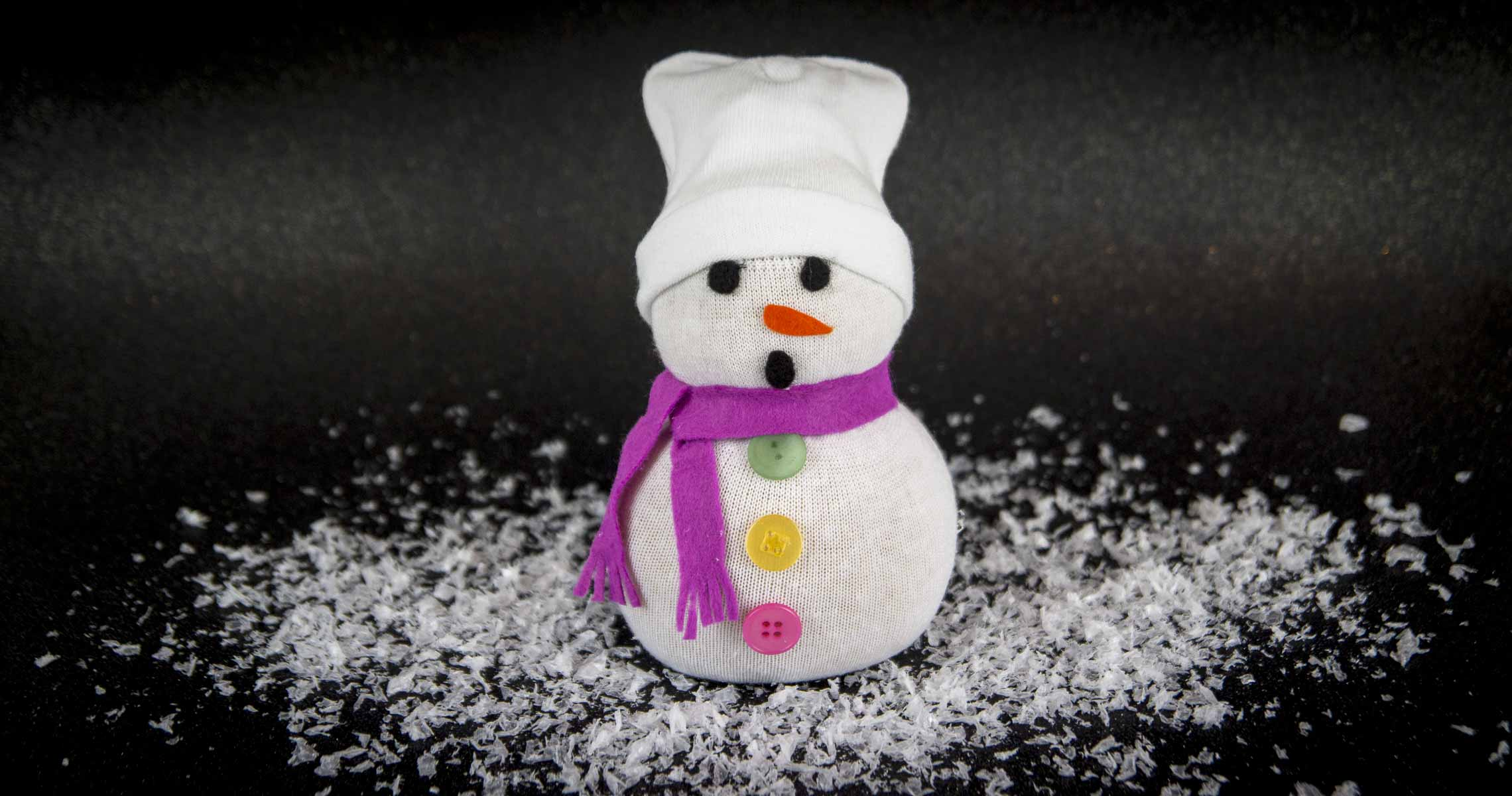 Socken-Schneemann Mr. Snow 🌨️