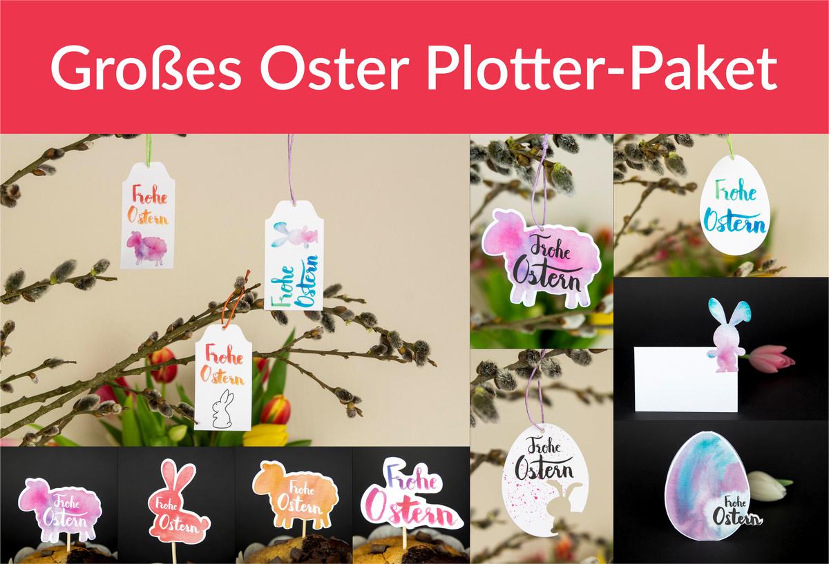 Großes Oster Plotter-Paket