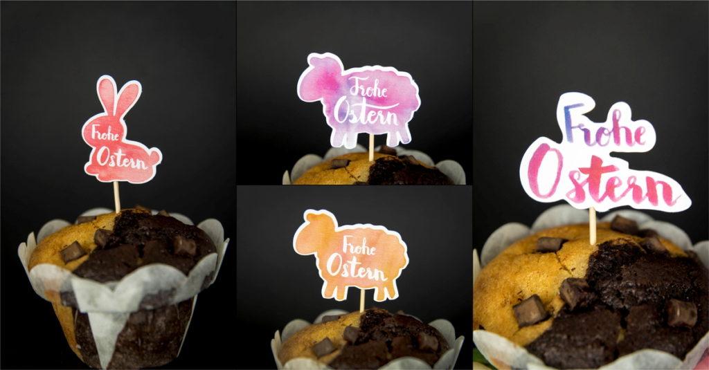 Cake Topper für den Osterkaffee