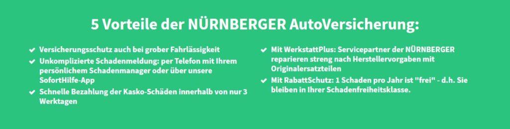5 Vorteile Autoversicherung der NÜRNBERGER