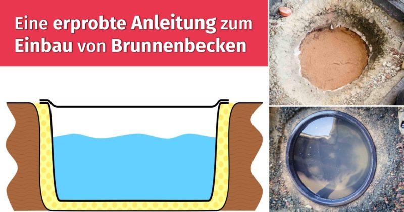 Eine erprobte Anleitung zum Einbau von Brunnenbecken