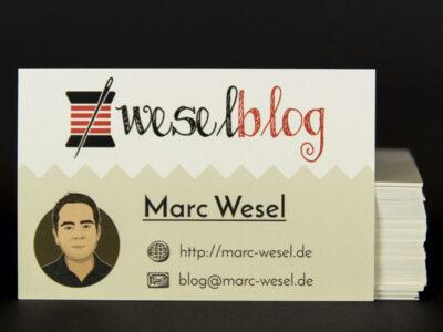 Visitenkarte für den Blog