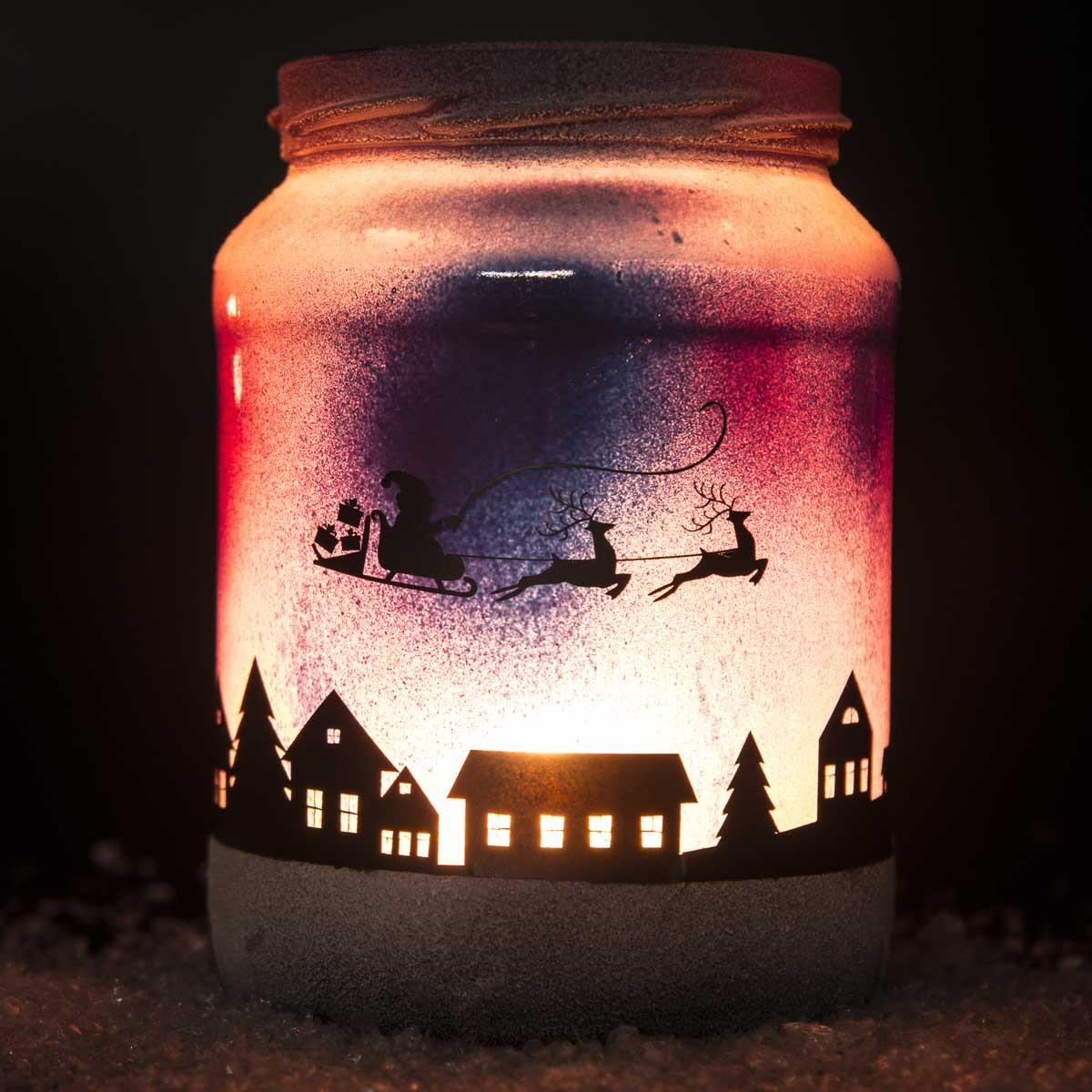 Diy Weihnachtliches Windlicht Wesel Blog Diy Handlettering