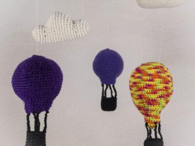 Häkelanleitung Heißluftballon und Wolken