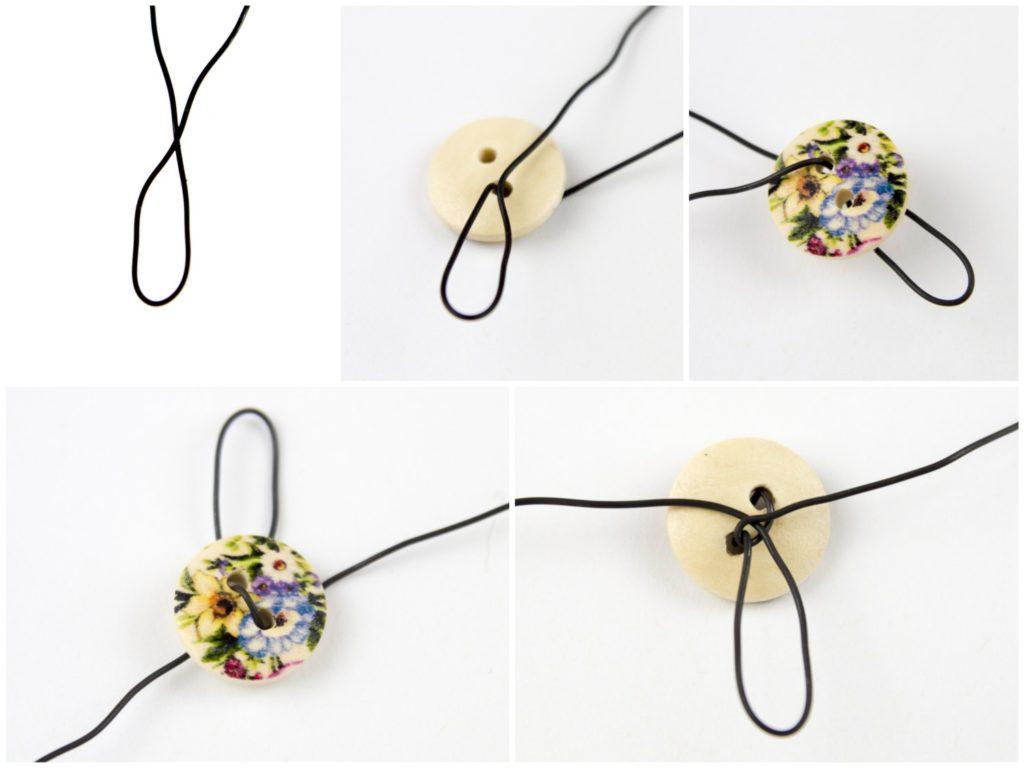 Basteln mit Knöpfen, Blumen aus Knöpfen, DIY, Drahtblume