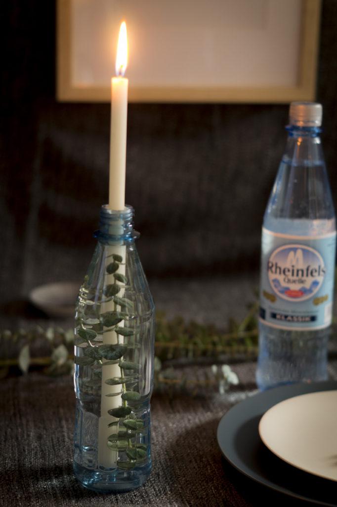 Schöne Tischdeko mit Rheinfels Quelle