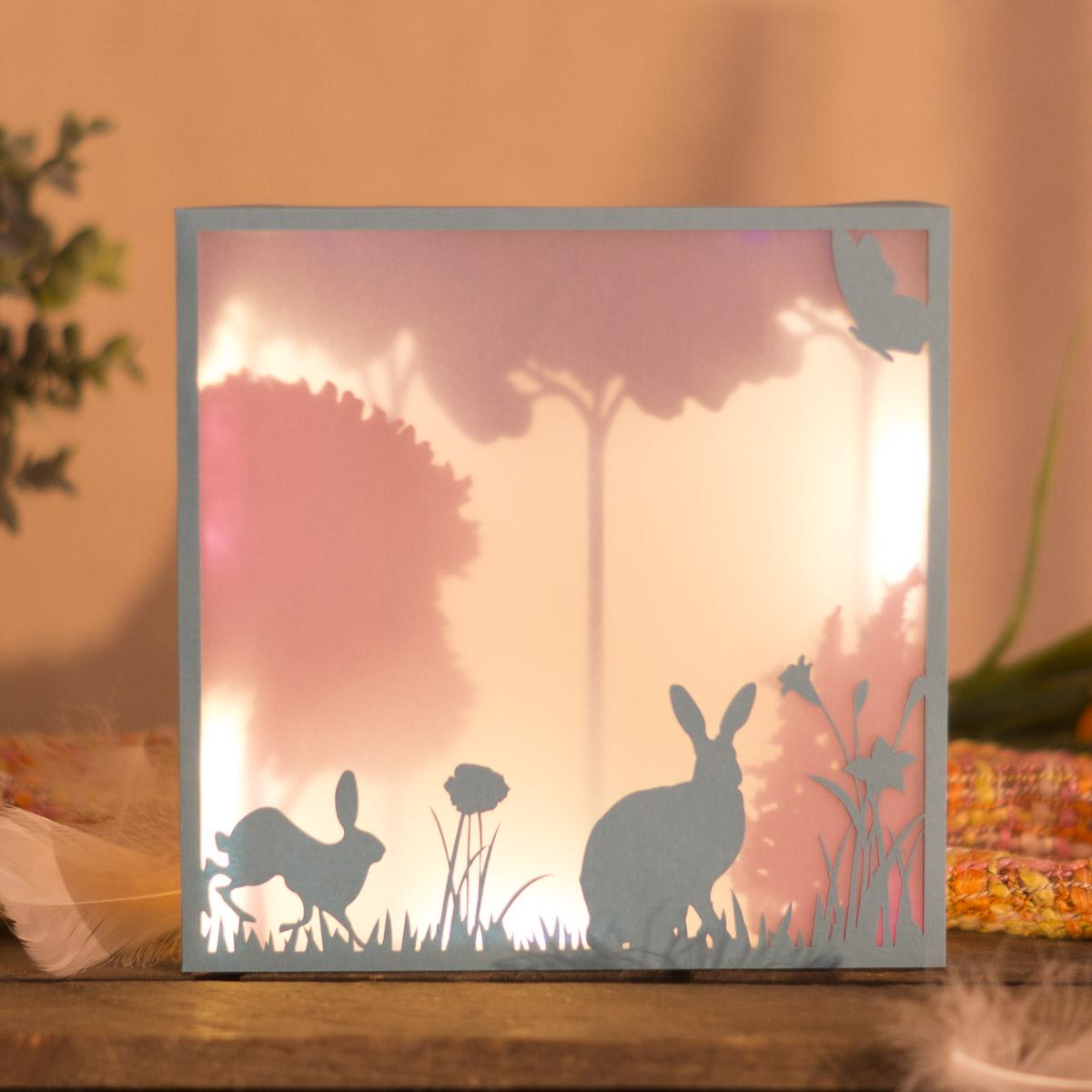3D Bild basteln zu Ostern – einfach märchenhaft